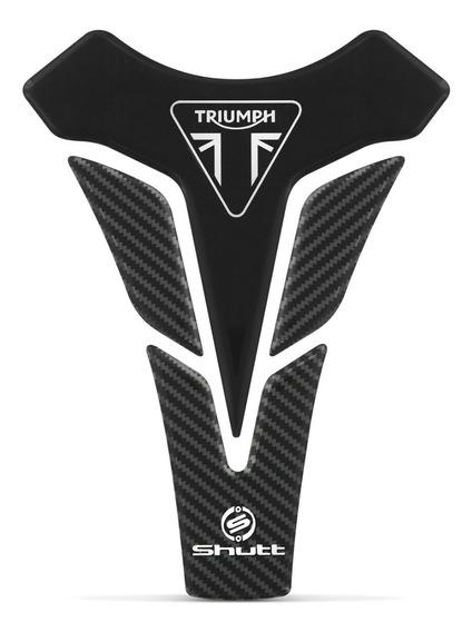 Protetor De Tanque Shutt Adesivo Tank Pad Moto Triumph Preto