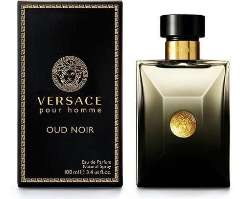 Perfume Versace Pour Homme Oud Noir Para Caballero 100 Ml