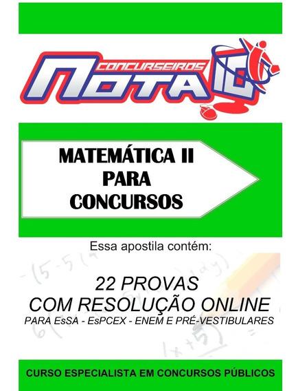 Apostila De Matemática - Concursos Enem Escola Vestibular