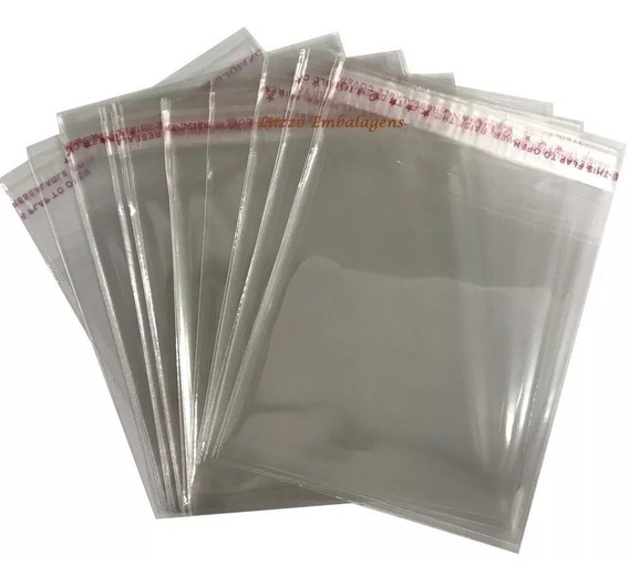 5 Sacos 6x9 Cm + Aba Adesivada Transparente