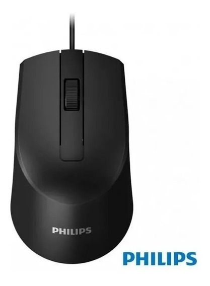 Mouse Usb Óptico Philips Com Fio Usb Cabo 1.5m