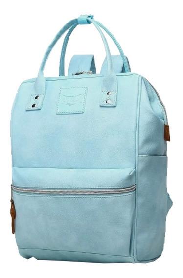 Cartera Mochila Everlast 100% Original Cuero Ecologico Pu Urbana Bolso Moda Colores Calidad Premium
