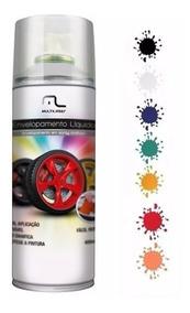 4 Spray Envelopamento Líquido Branco Adesivo Superfície