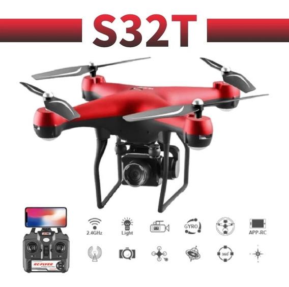 Drone Zangão S32t Cam Gira 4k/2bat 22/25mnts Vôo C.rmt 200m