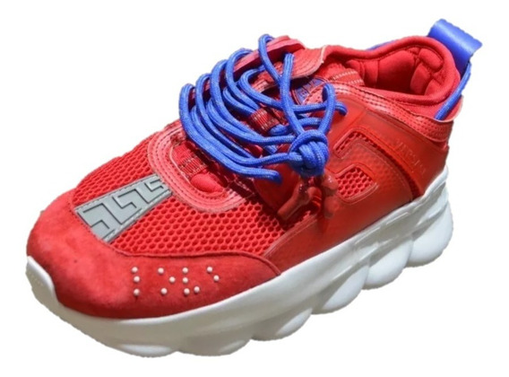 Tenis Versace X Chain Reaction Rojo + Envio Gratis