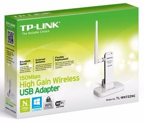 Adaptador Usb Wireless Tp-link Wn722n Tl-wn722nc Alto Ganho