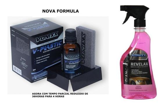 Vitrificador Plasticos V-plastic 50ml + Revelax Vonixx