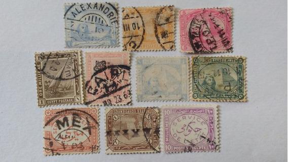 Gran Lote De Estampillas De Egipto Pará Coleccionistas