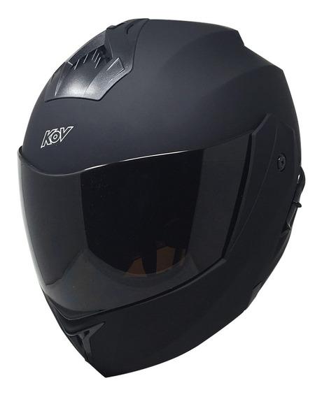 Casco Moto Abatible Kov Stealth Negro Mate Lente Interno Dot