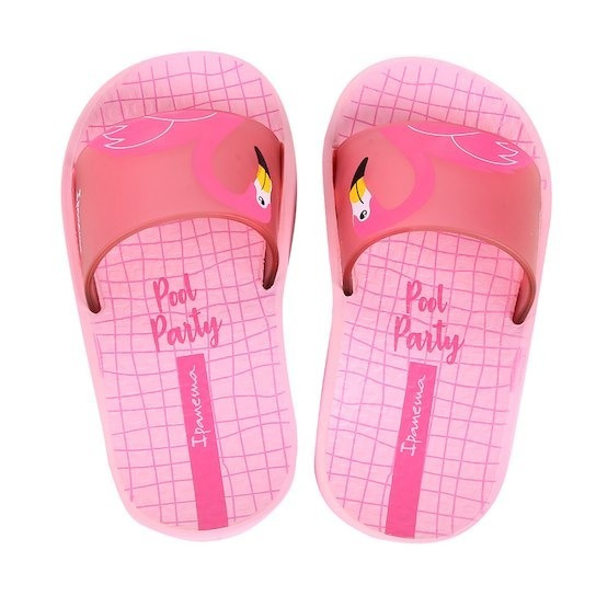 Chinelo Infantil Slide Estampa Flamingo 23 Ao 34 Grendene