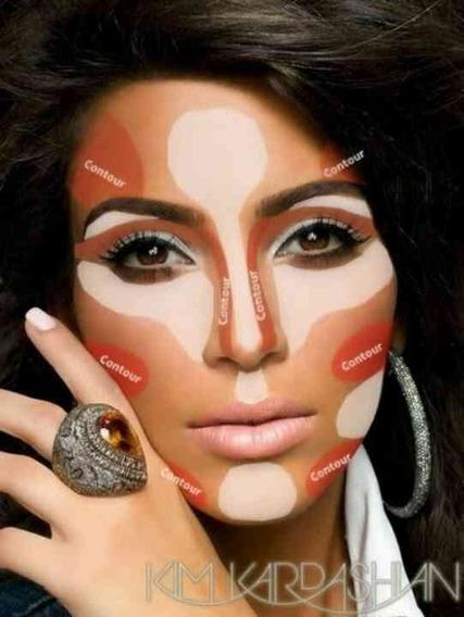 Bases Correctores En Crema Paleta Kaylie Contorno Maquillaje