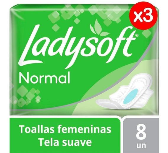 Toallas Femeninas Ladysoft Normal C/alas Pack X3