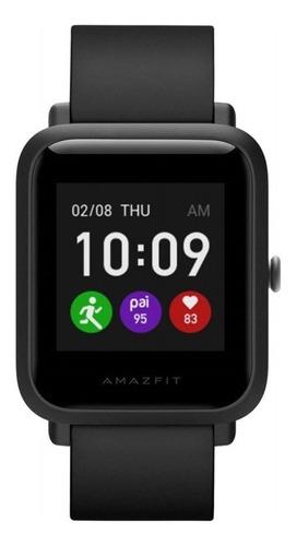 """Imagen 1 de 3 de Smartwatch Amazfit Basic Bip S Lite 1.28"""" caja de  policarbonato  charcoal black malla  charcoal black de  tpu A1823"""