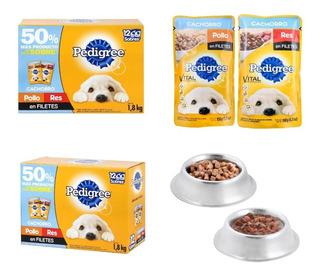 Alimento Para Perro Cachorro 48 Sobres De 150 Gramos