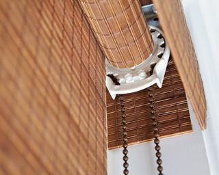 Persiana De Bambú Mecanismo De Cadena Y Tubo