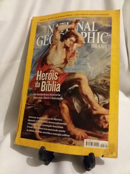 Antiga Revista Nacional Geographic Br.-heróis Bíblia-nº4628g