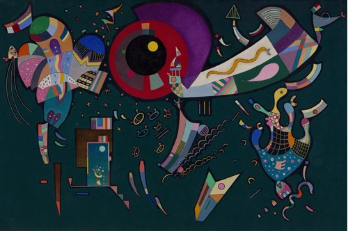 Poster Foto Hd W. Kandinsky 60x90cm Obra  Perto Do Círculo
