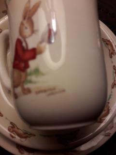 Juego De Platos Y Taza Infantil De Porcelana Inglesa