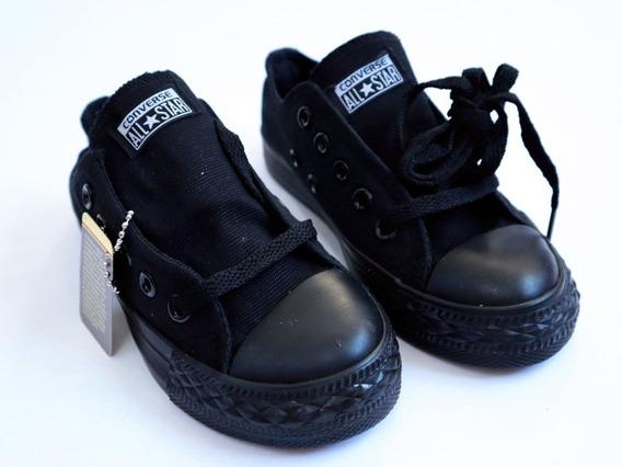 Zapatos Converse All Star Niños Negras ( 25 A 30 ) Escolar