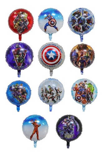 11 Globos Avengers Redondos