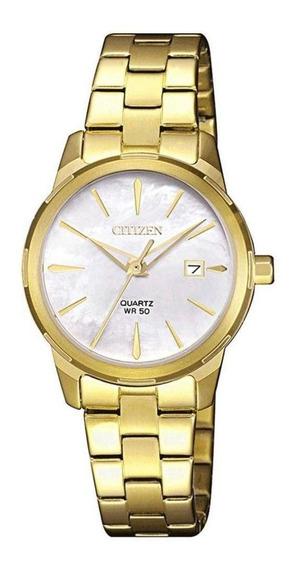 Relogio Dourado Feminino Citizen Eu6072-56d/tz28495h Nf