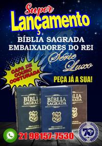 Bíblia De Estudos Dos Embaixadores Do Rei - Serie Luxo