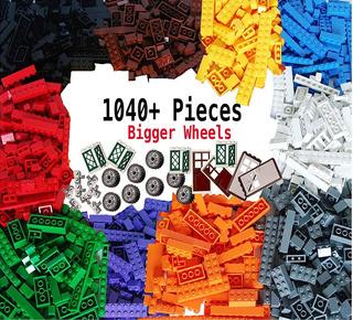 1040 Fichas Lego Compatibles Ruedas Puertas Ventanas
