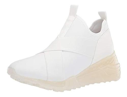 Sneaker Crymson Para Mujer De Steve Madden, Blanco, 8 Us