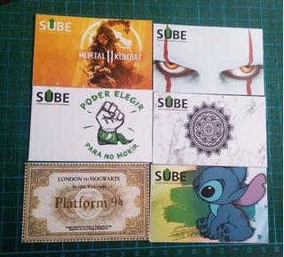 Calcomanías Stickers Para Tarjeta Sube X100u - 100 Modelos