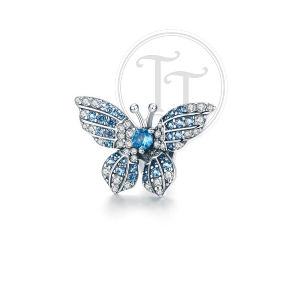 Collar Charm Mariposa Topaz 2.5 Ct Plata Esterlina 925