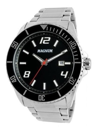 Relógio Magnum Masculino Ref: Ma33077t Casual Prateado
