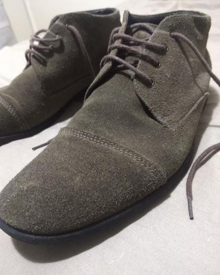 Sapato Bota Camurça