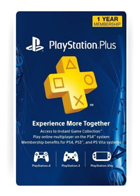 Cartão Psn Playstation Plus 12 Meses Americana Usa Ps3 Ps4