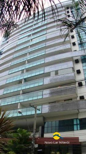 Imagem 1 de 15 de Excelente Apartamento Em Icaraí, Frente, Sol Da Manhã Com 145 M²,. - 117