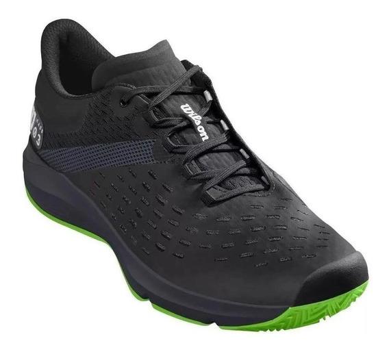 Tenis Wilson Kaos 3.0 Sft Clay Masculino Preto / Verde