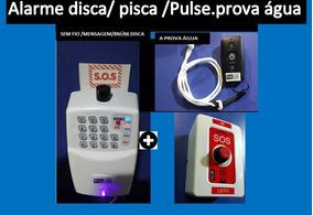Alarme Idoso Panico +colar+discadora Sem Fio +botão Pânico