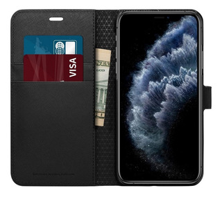 Funda Spigen Wallet S iPhone 11 - 11 Pro Billetera Cuero