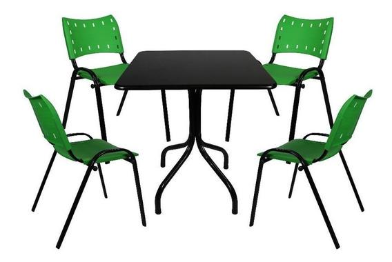 Conjunto De Mesa 4 Cadeiras Restaurante Sorveteria Lanchonet