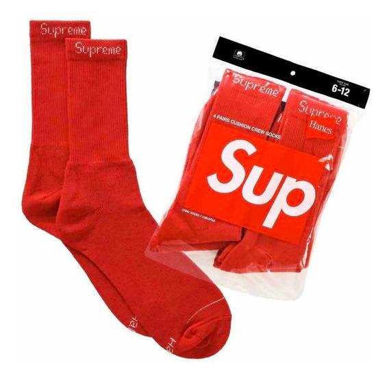 Calcetines Supreme Hanes Socks Rojos Originales