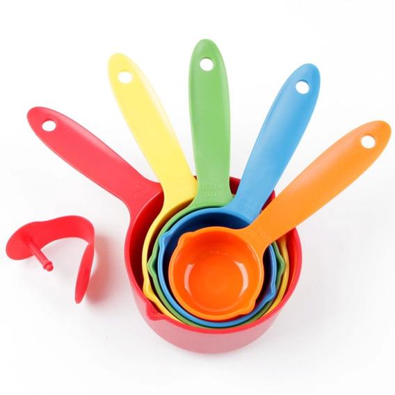 Tazas Medidoras Set Por 5 Pcs Para Repostería Plastico Refor