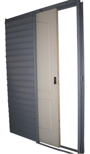 Puerta Corrediza Embutir Craftmaster Blanca 0.80 Tabique 15