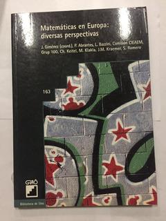 Libro Matematicas En Europa Diversas Perspectivas