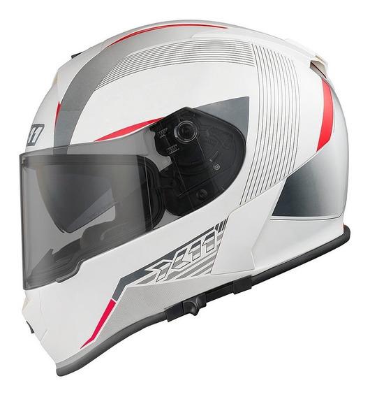 Capacete X11 Revo Branco Moto Super Oferta C/ Viseira Sol