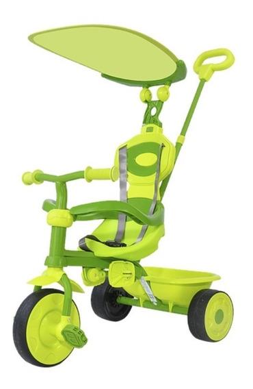 Triciclo Infantil Bebe Desmontable Con Manija Y Capota #902