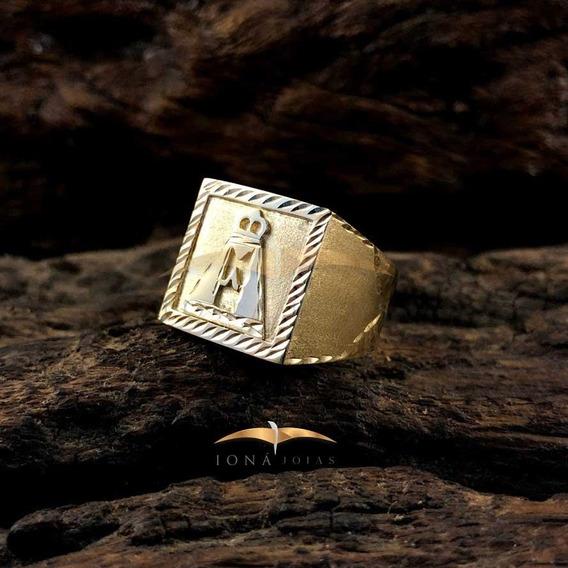 Anel Nossa Senhora 15,0g Forrado Em Ouro 18k - 750 - Unidade