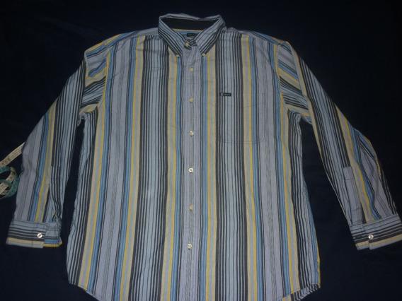 L Camisa Chaps Ralph Lauren Rayada Talle L Azul Art 10637
