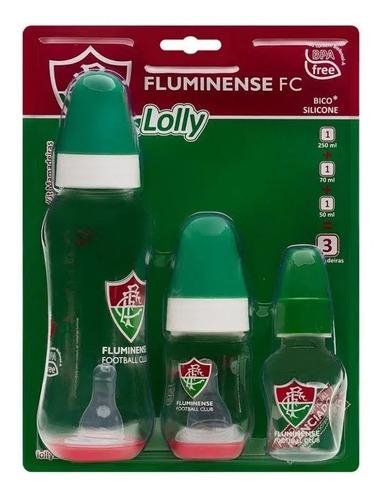 Kit Mamadeira 3 Pçs Fluminense Lolly 3860-01-flu