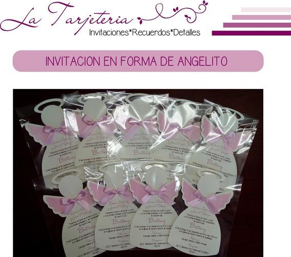 Invitacion Angelito Bautizo, Baby Shower, Etc..