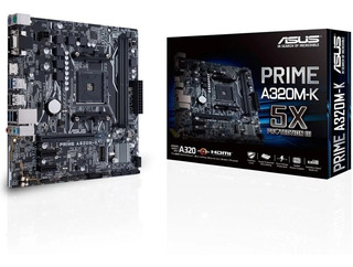 Board Asus Prime A320m-k/max 32gb /am4 (amd/ryzen)