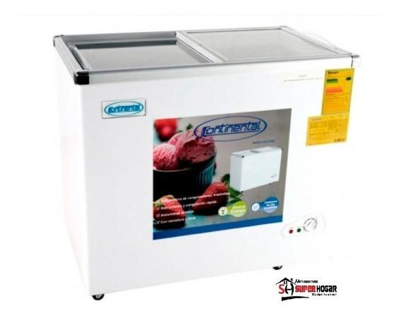 Congelador Continental 168 210 Y 268 Litros Tapa De Vidrio L